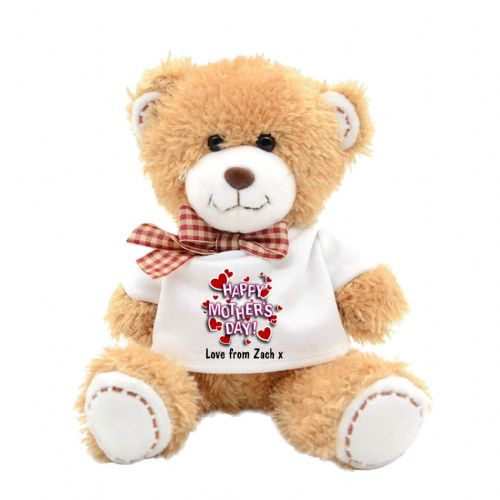 Personalised Happy Mothers Day Plush Teddy Bear N5
